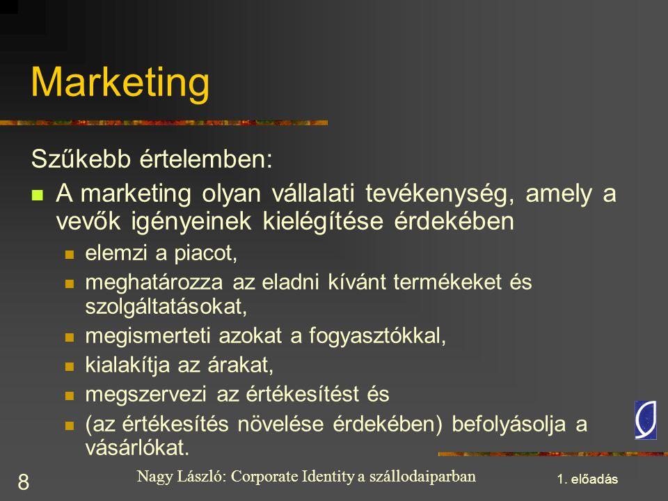 Marketing Szűkebb értelemben: