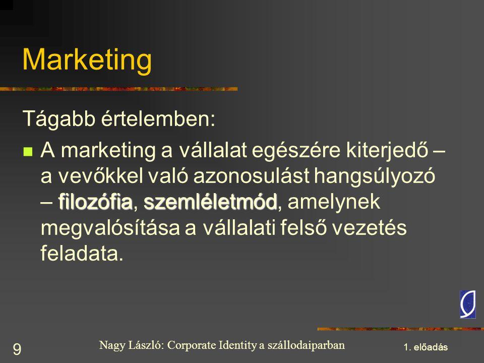 Marketing Tágabb értelemben: