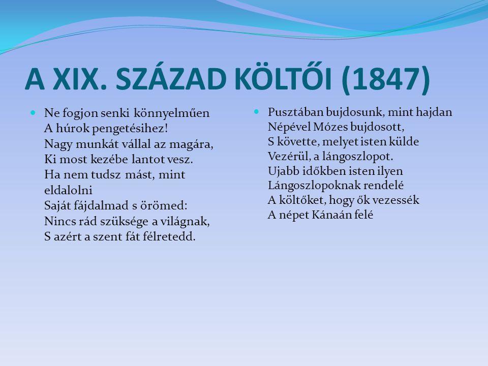 A XIX. SZÁZAD KÖLTŐI (1847)