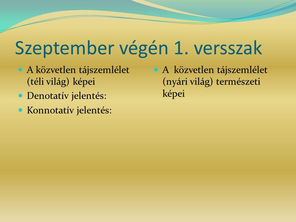 Szeptember végén 1. versszak