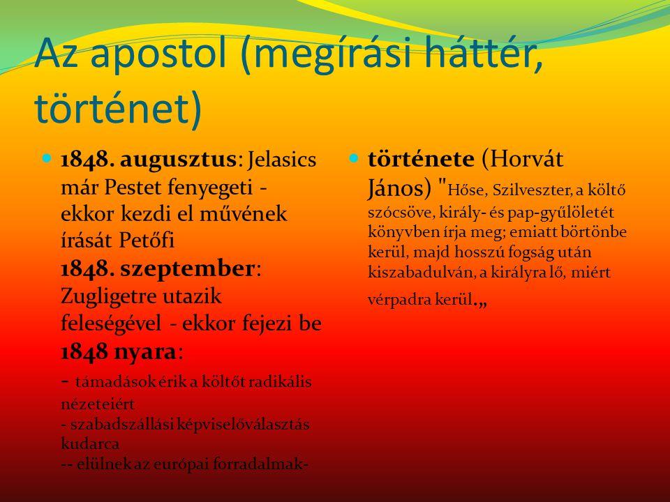 Az apostol (megírási háttér, történet)