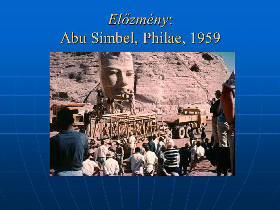 Előzmény: Abu Simbel, Philae, 1959