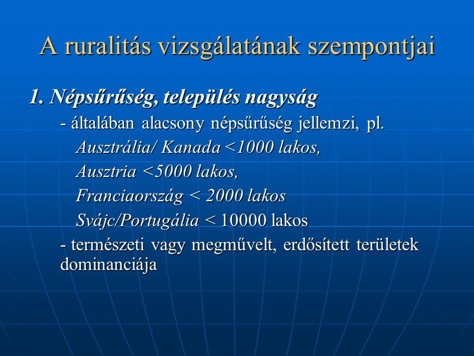 A ruralitás vizsgálatának szempontjai