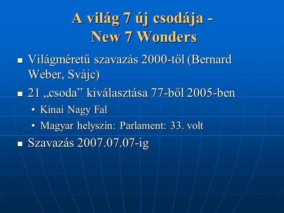 A világ 7 új csodája - New 7 Wonders
