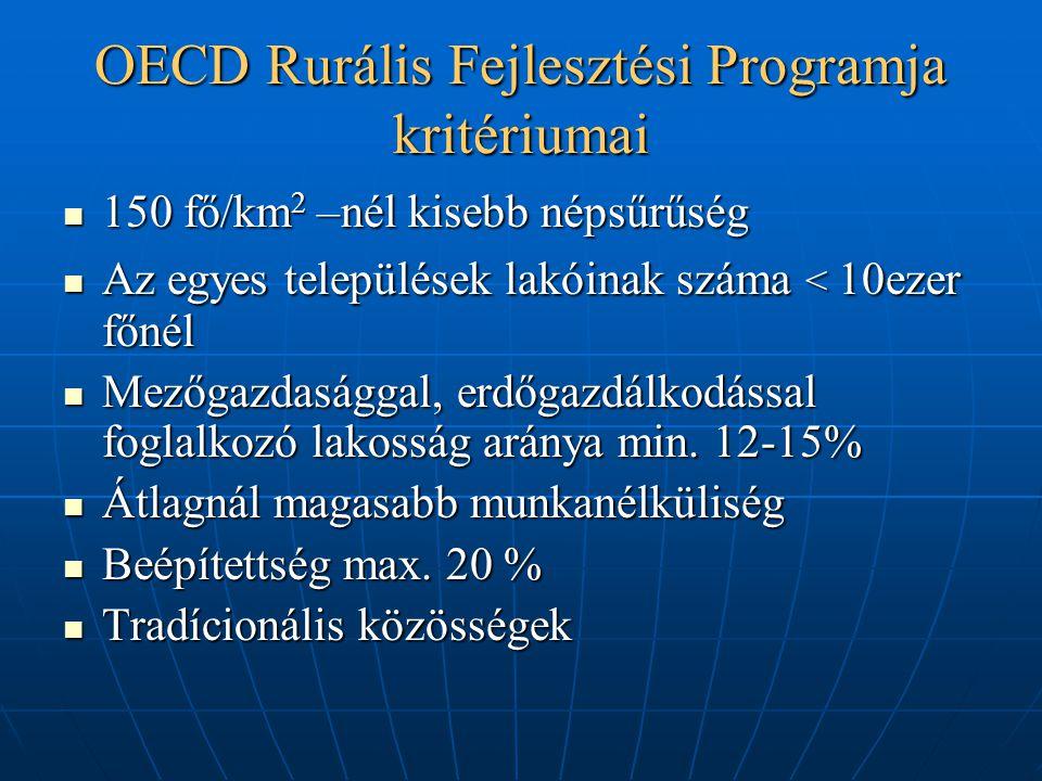 OECD Rurális Fejlesztési Programja kritériumai