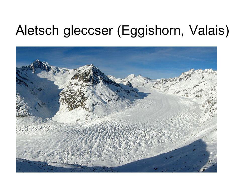 Aletsch gleccser (Eggishorn, Valais)