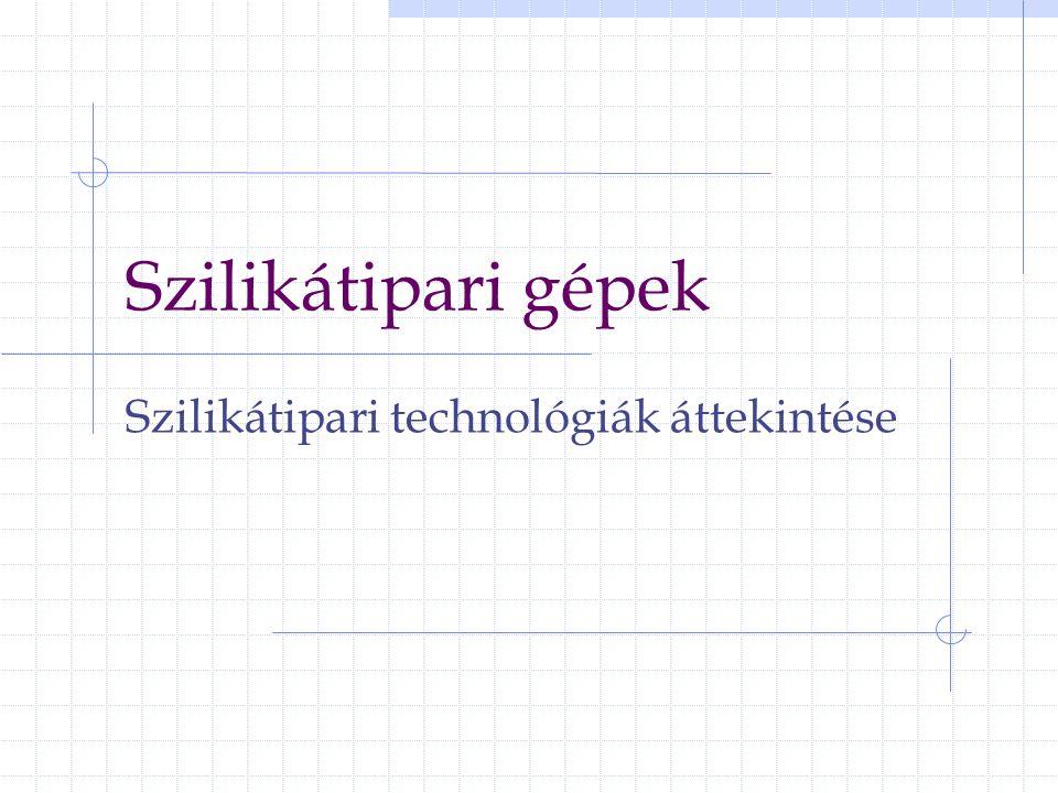 Szilikátipari technológiák áttekintése