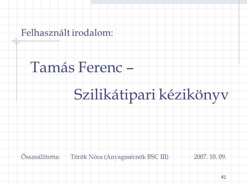 Szilikátipari kézikönyv