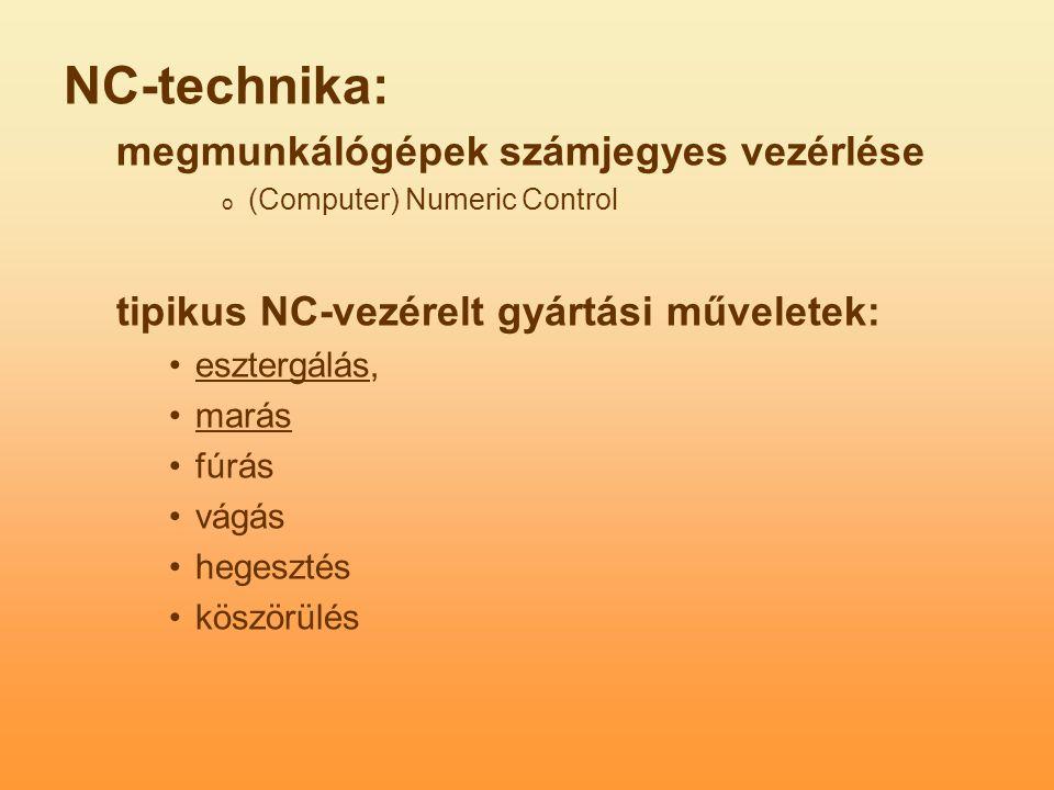NC-technika: megmunkálógépek számjegyes vezérlése