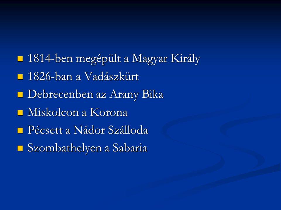 1814-ben megépült a Magyar Király