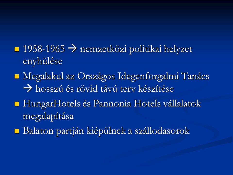1958-1965  nemzetközi politikai helyzet enyhülése