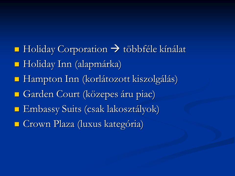 Holiday Corporation  többféle kínálat