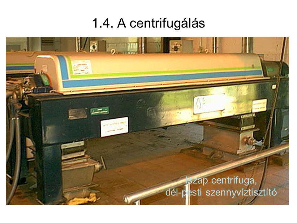 Iszap centrifuga, dél-pesti szennyvíztisztító