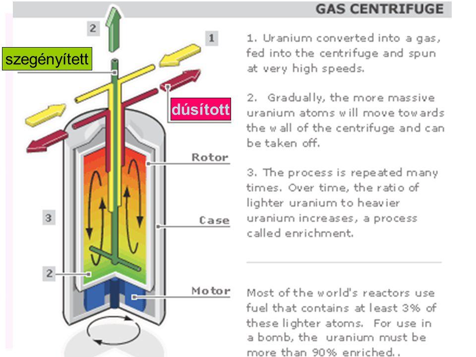 (U-235 és U-238 fluoridjának szétválasztása)