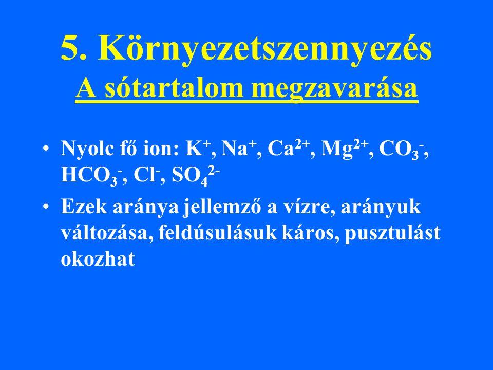 5. Környezetszennyezés A sótartalom megzavarása