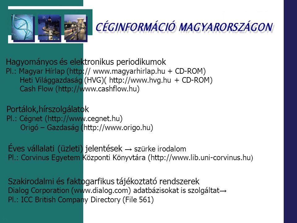 Hagyományos és elektronikus periodikumok