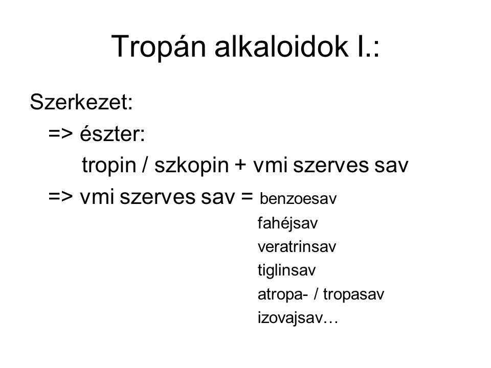 tropin / szkopin + vmi szerves sav