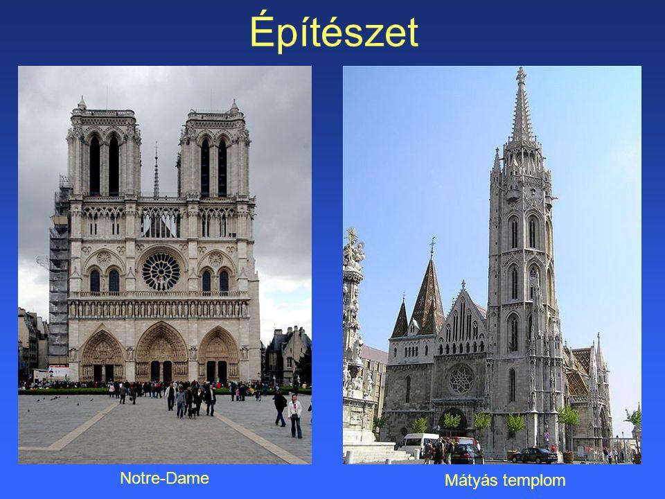 Építészet Notre-Dame Mátyás templom