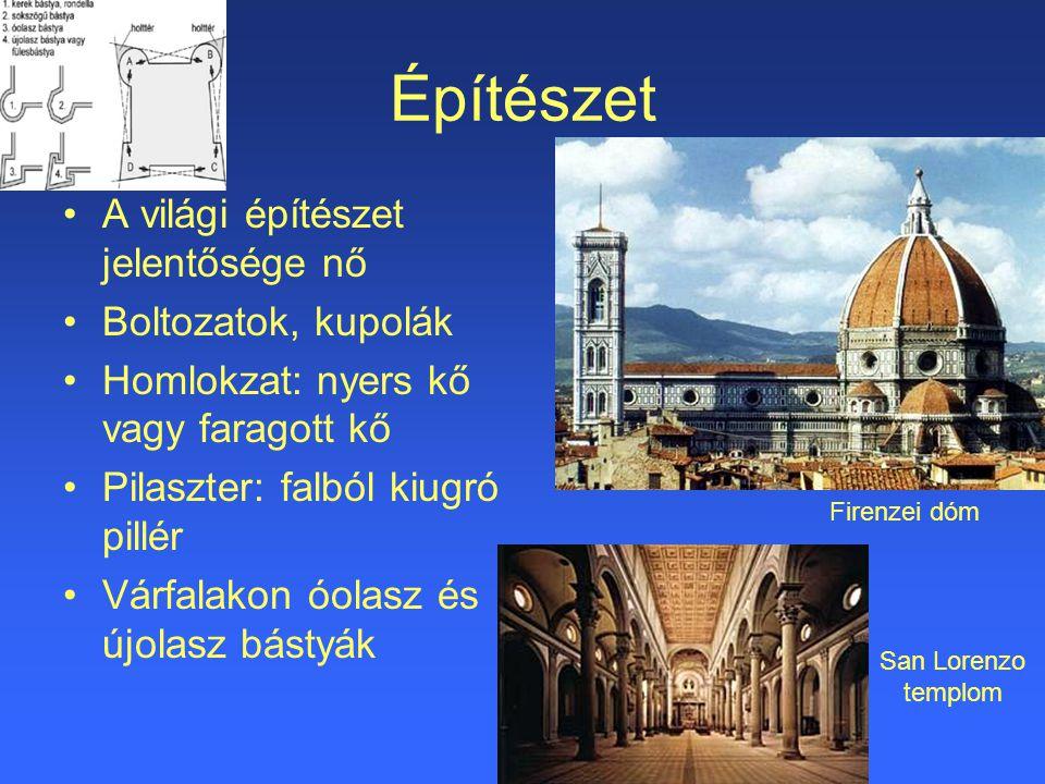 Építészet A világi építészet jelentősége nő Boltozatok, kupolák