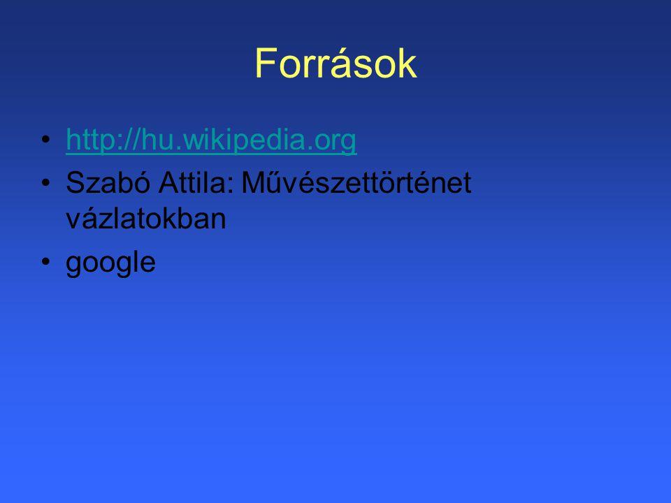 Források http://hu.wikipedia.org