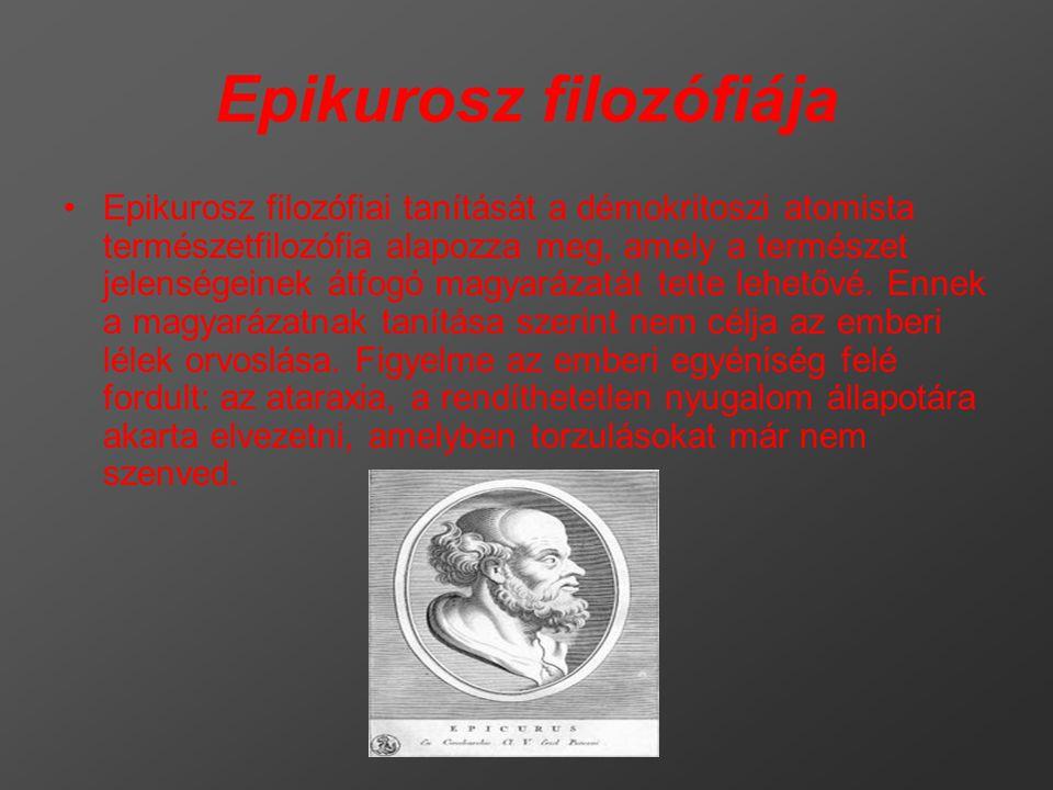 Epikurosz filozófiája
