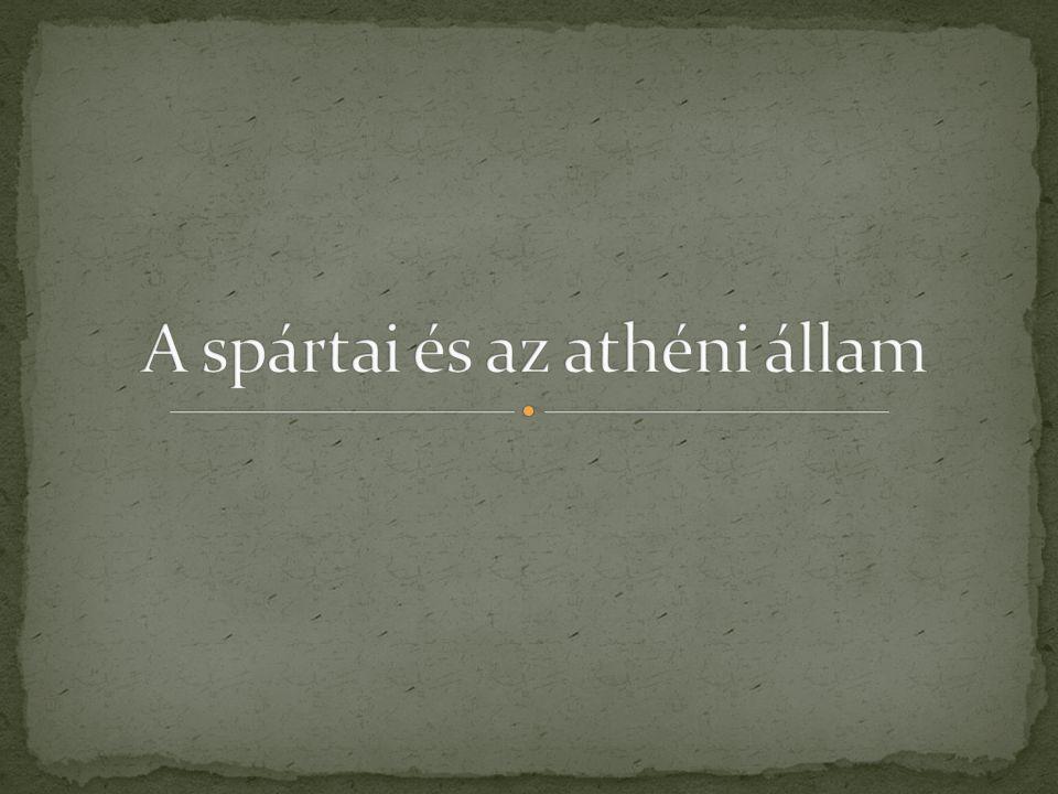 A spártai és az athéni állam