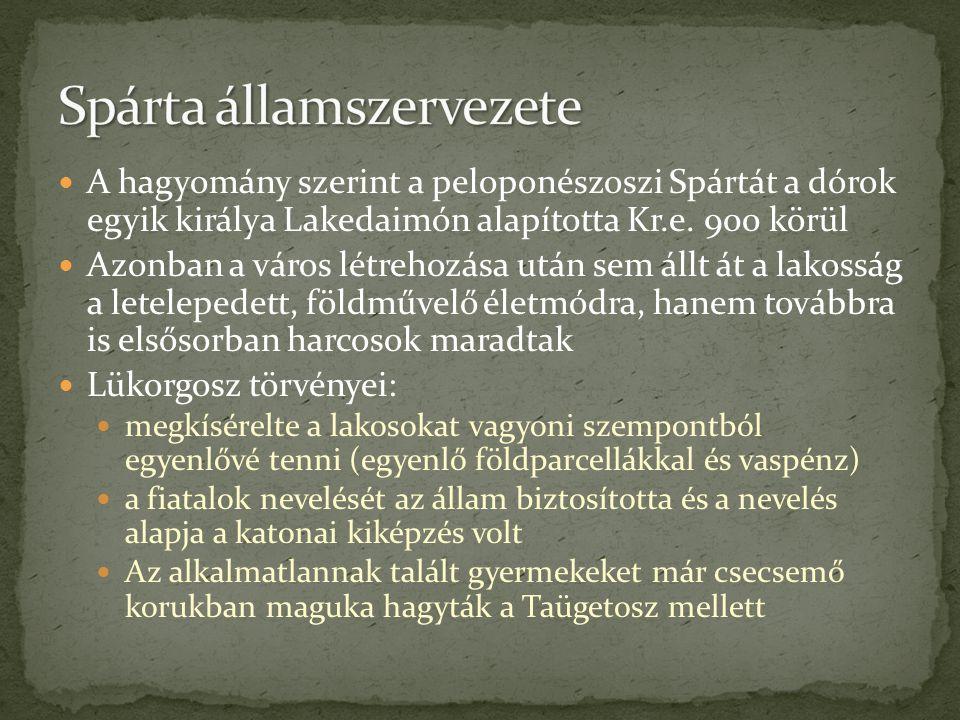 Spárta államszervezete