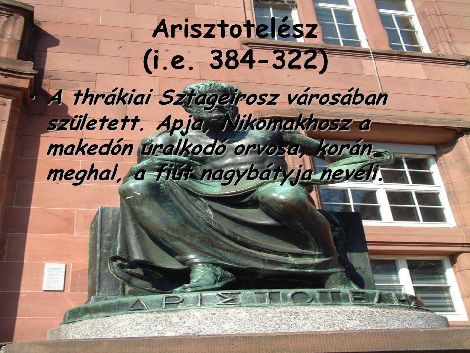 Arisztotelész (i.e. 384-322)