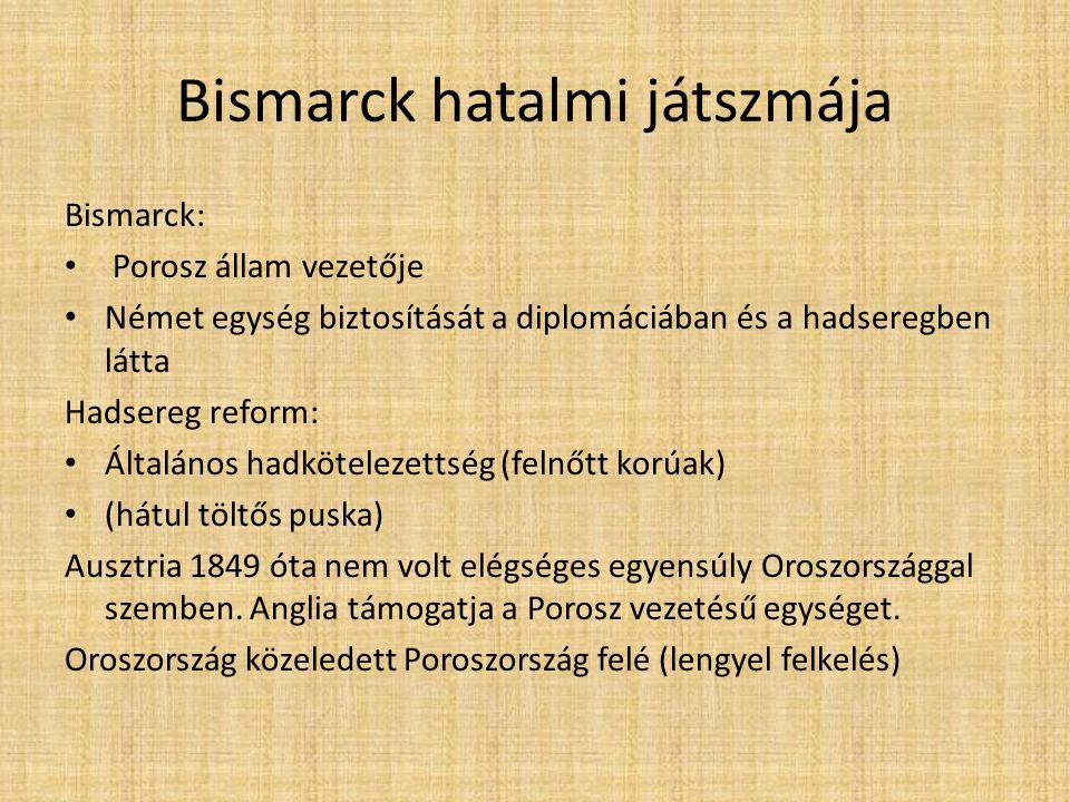 Bismarck hatalmi játszmája