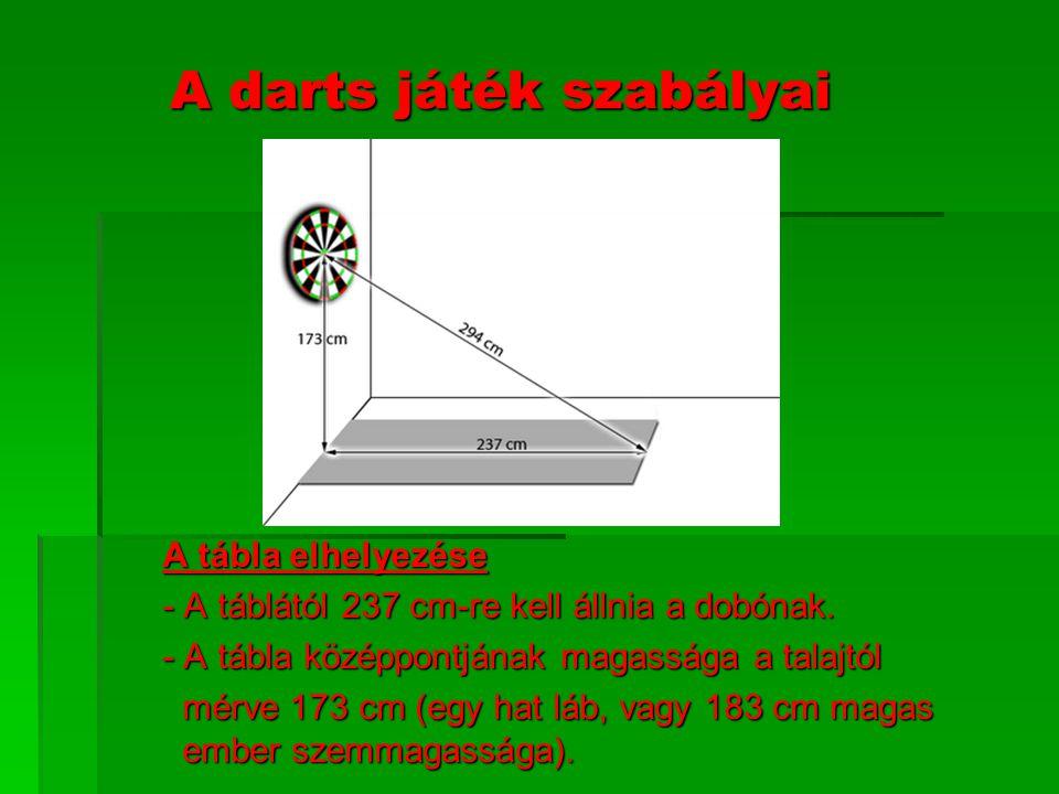 A darts játék szabályai