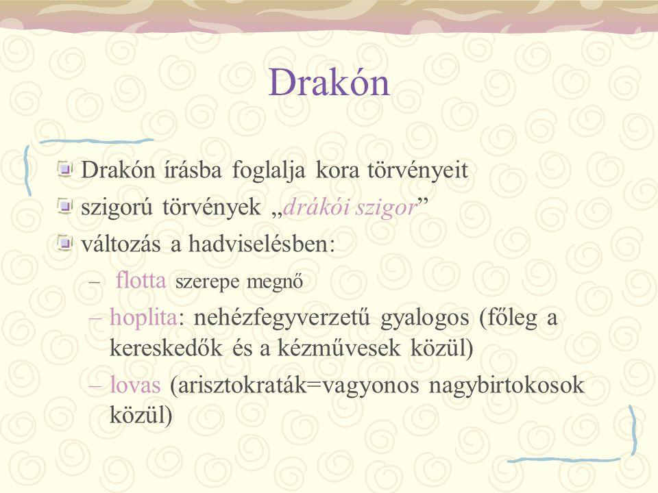 Drakón Drakón írásba foglalja kora törvényeit