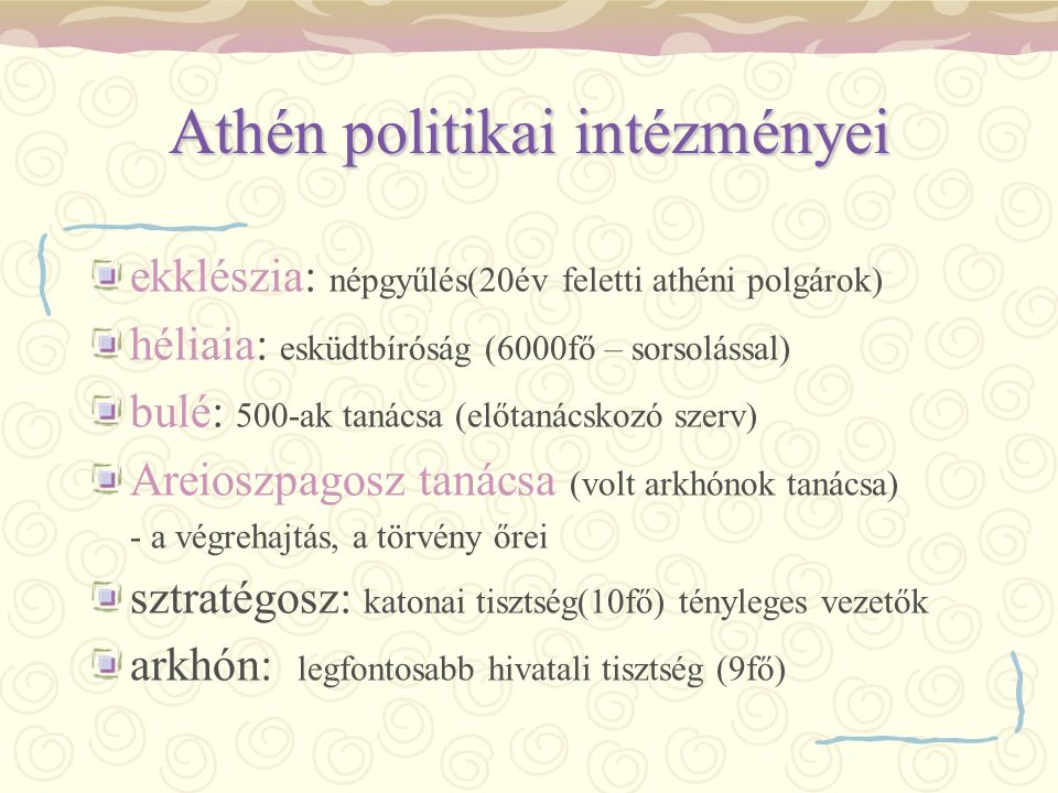 Athén politikai intézményei