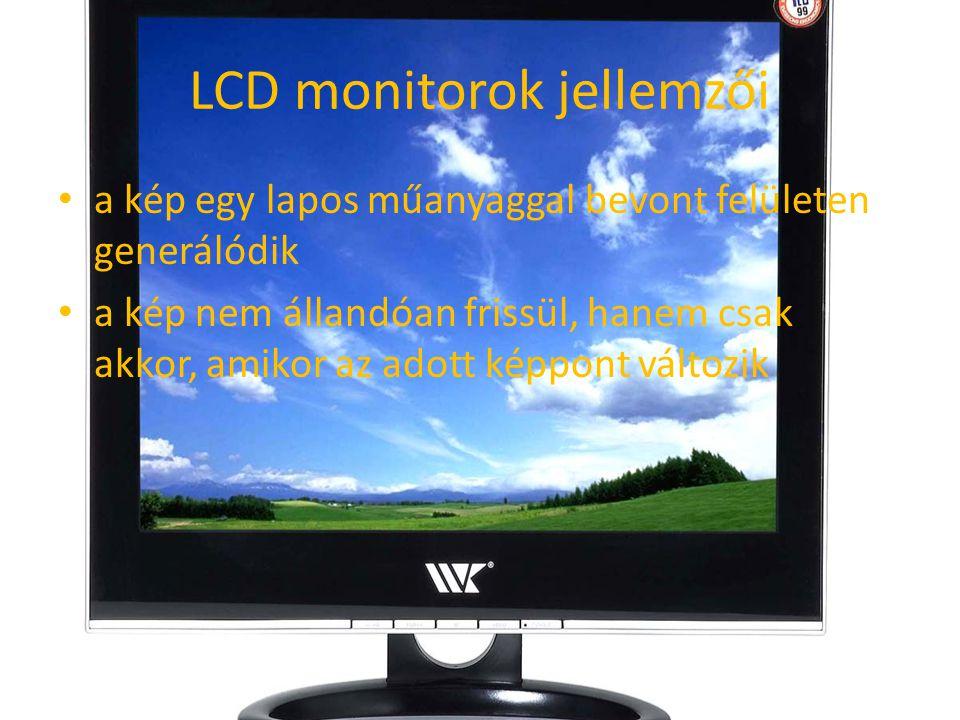 LCD monitorok jellemzői
