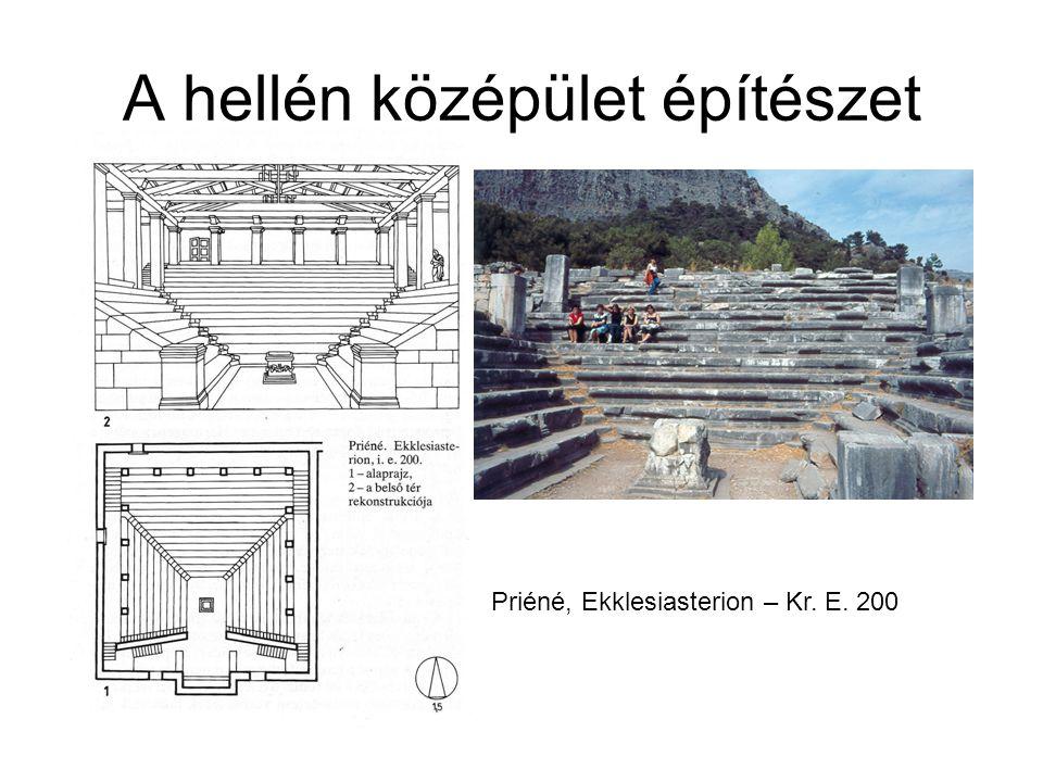 A hellén középület építészet