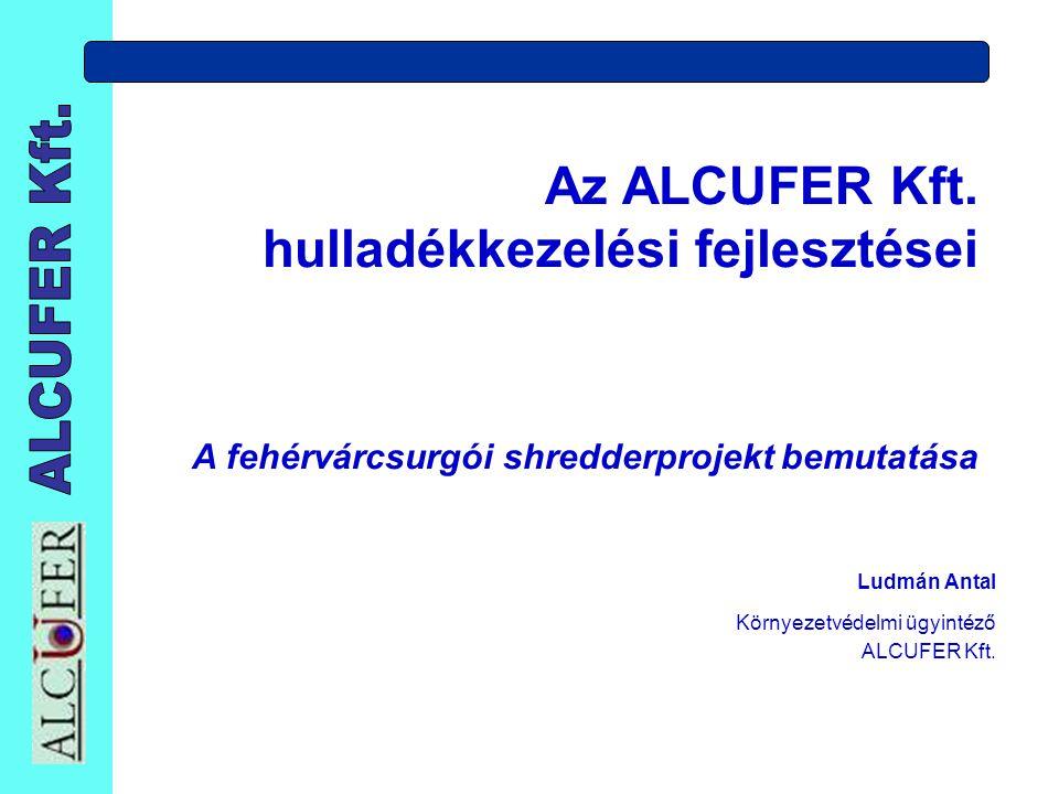 Az ALCUFER Kft. hulladékkezelési fejlesztései