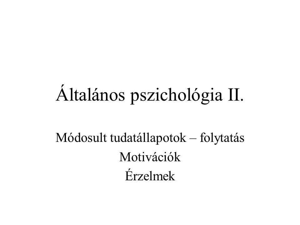 Általános pszichológia II.
