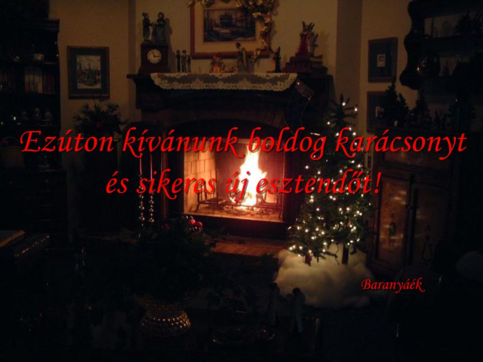 Ezúton kívánunk boldog karácsonyt és sikeres új esztendőt!