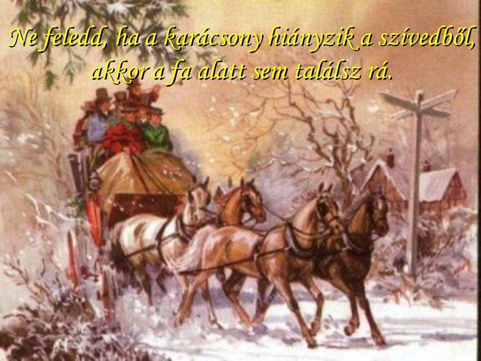 Ne feledd, ha a karácsony hiányzik a szívedből, akkor a fa alatt sem találsz rá.