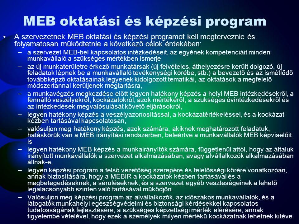 MEB oktatási és képzési program