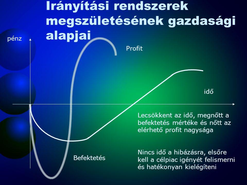 Irányítási rendszerek megszületésének gazdasági alapjai