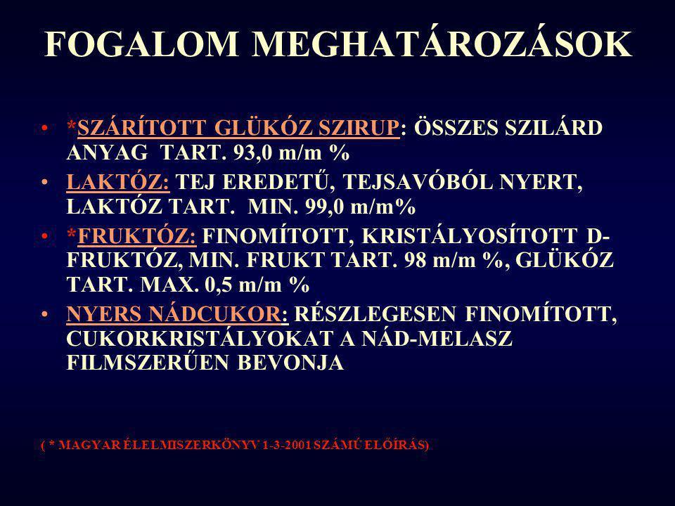FOGALOM MEGHATÁROZÁSOK