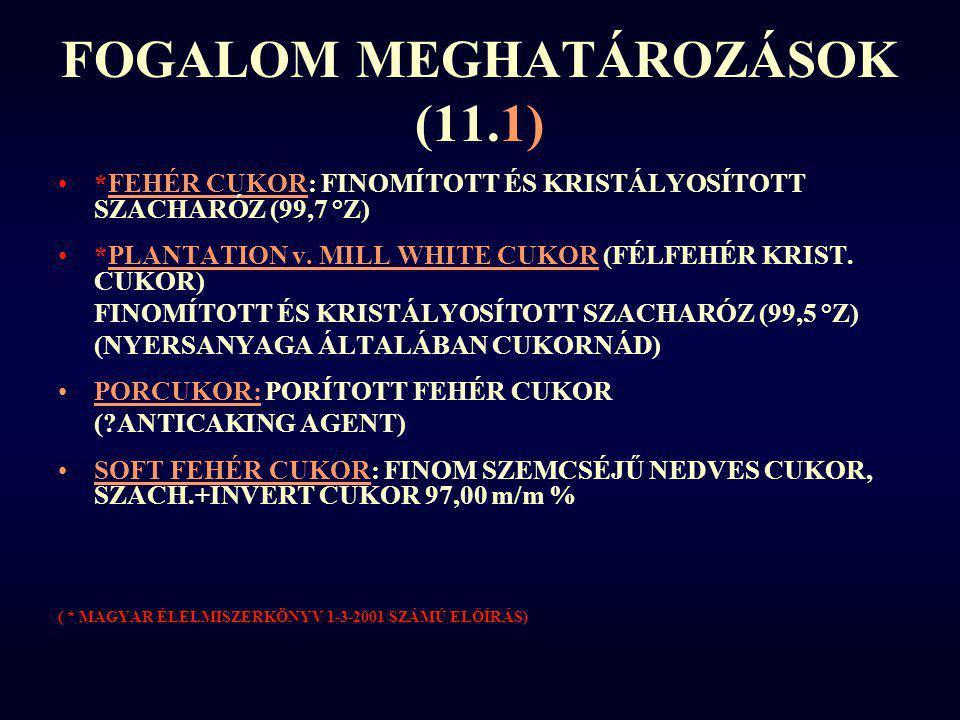 FOGALOM MEGHATÁROZÁSOK (11.1)