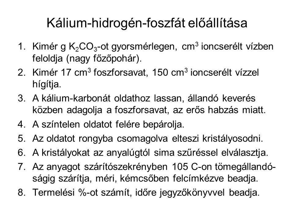 Kálium-hidrogén-foszfát előállítása