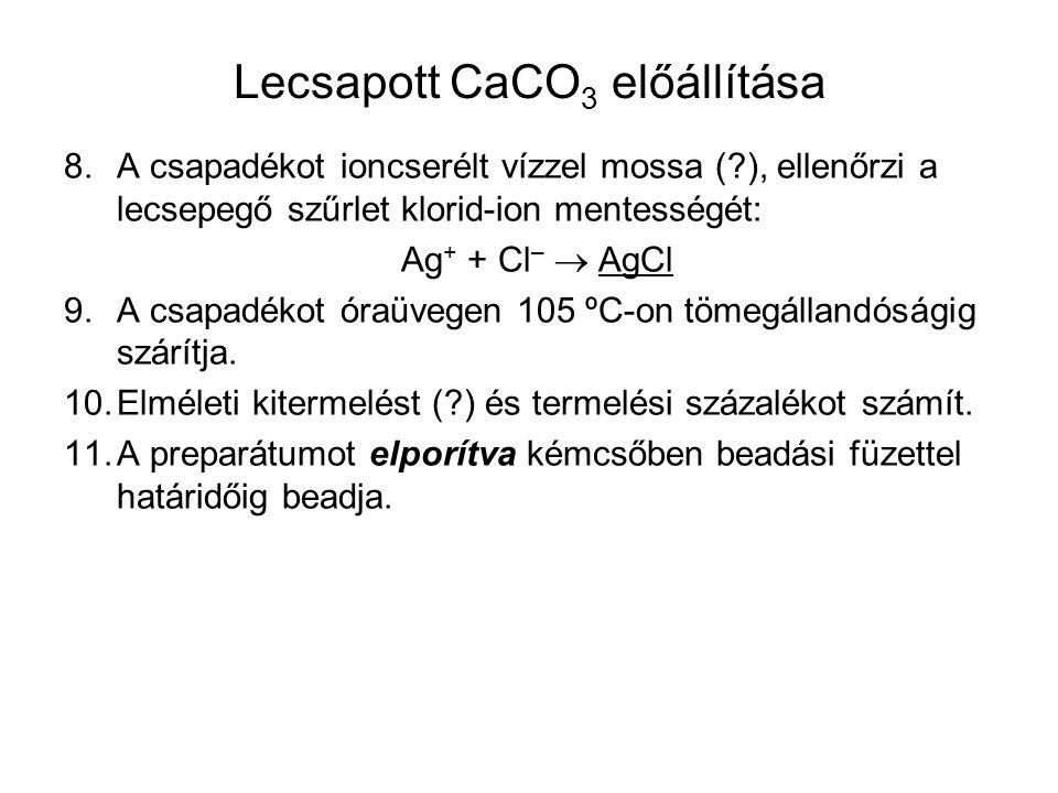 Lecsapott CaCO3 előállítása
