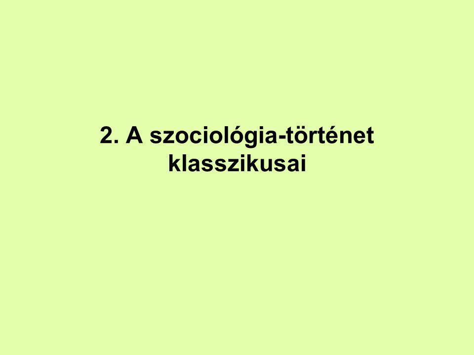 2. A szociológia-történet klasszikusai