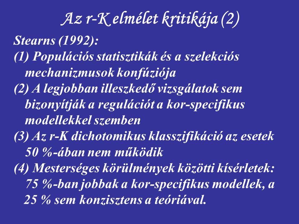 Az r-K elmélet kritikája (2)