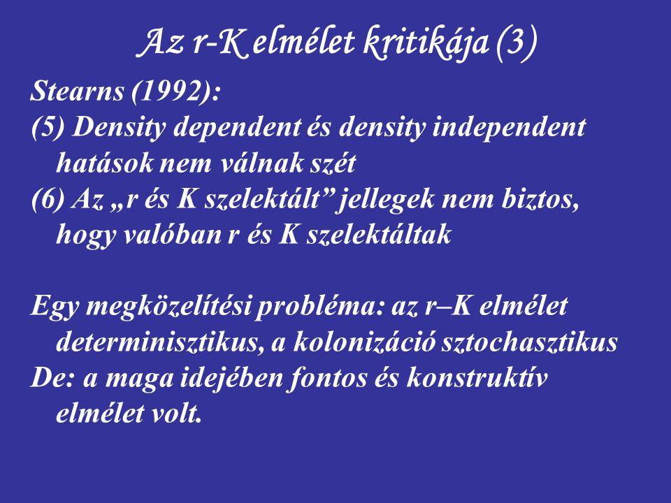 Az r-K elmélet kritikája (3)
