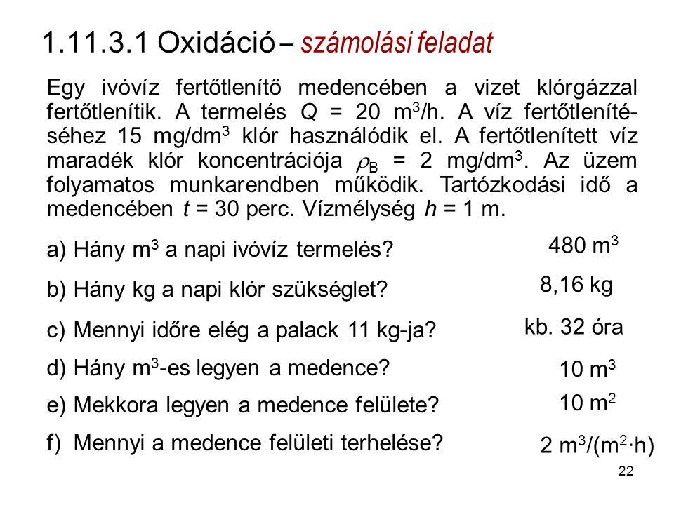 1.11.3.1 Oxidáció – számolási feladat