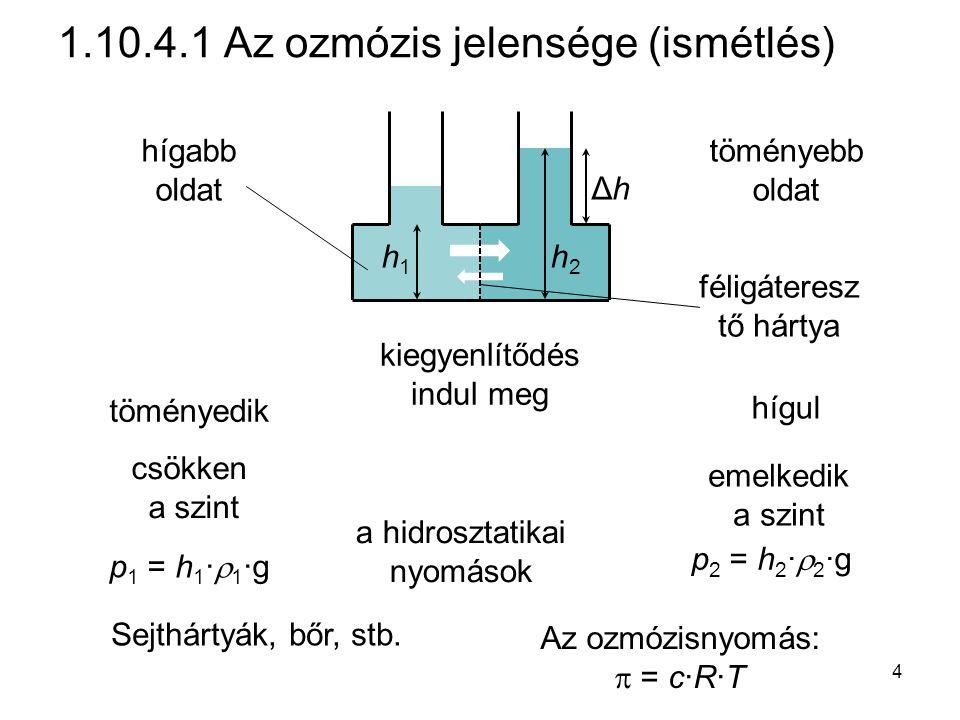 1.10.4.1 Az ozmózis jelensége (ismétlés)