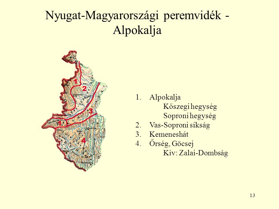 Nyugat-Magyarországi peremvidék - Alpokalja